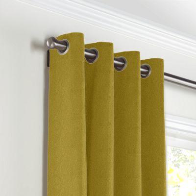 Chartreuse Green Velvet Grommet Curtains