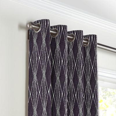 Black & White Diamond Grommet Curtains