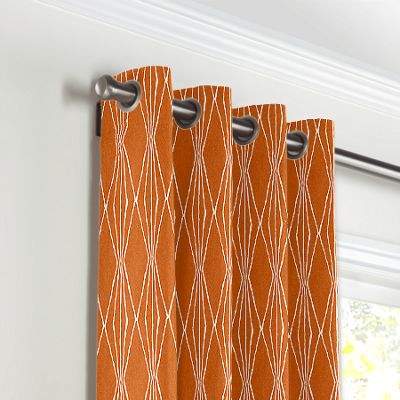 Burnt Orange Diamond Grommet Curtains