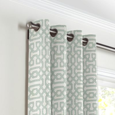 Pale Seafoam Trellis Grommet Curtains