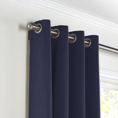 Navy Blue Sunbrella® Canvas Grommet Curtains