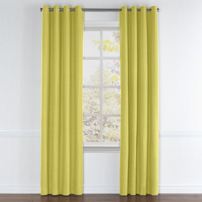 Lime Green Linen Grommet Curtain