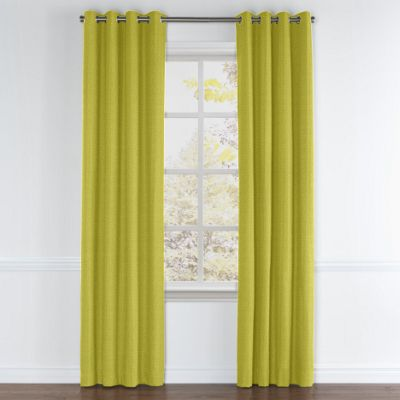 Chartreuse Green Linen Grommet Curtains