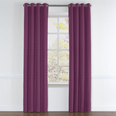 Magenta Purple Linen Grommet Curtains