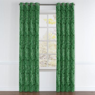 Marbled Green Malachite Grommet Curtains