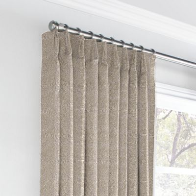 Silvery Gray Metallic Linen Euro Pleated Curtains