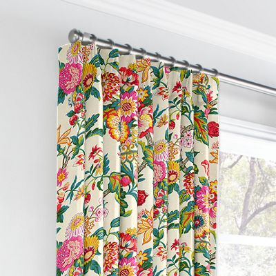 Candy-Colored Chinoiserie Euro Pleated Curtains