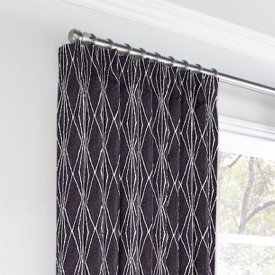 Black & White Diamond Euro Pleated Curtains