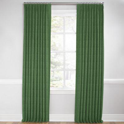 Dark Green Linen Pleated Curtain