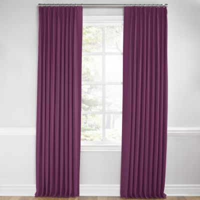 Magenta Purple Linen Euro Pleated Curtains