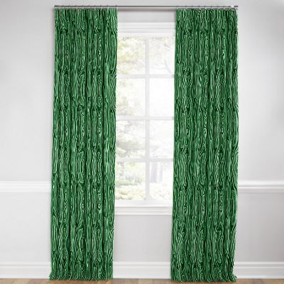 Marbled Green Malachite Pleated Curtain
