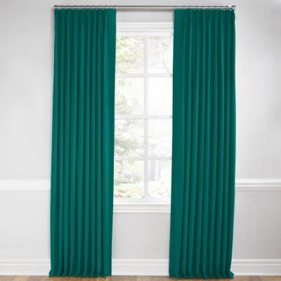 Teal Sunbrella® Canvas Euro Pleated Curtains