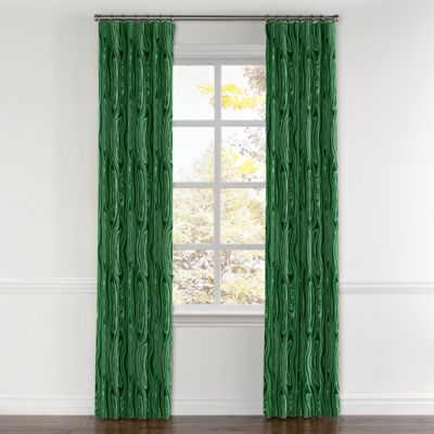 Marbled Green Malachite Curtain, Ring Top