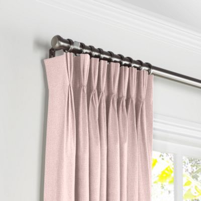 Pastel Pink Linen Pleated Curtains