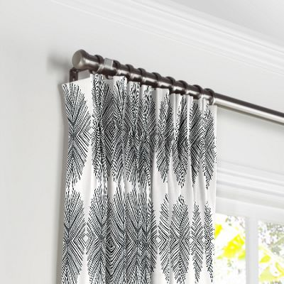 Black & White Spiky Oval Pleated Curtains