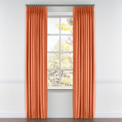Coral Lightweight Linen Pleated Curtains