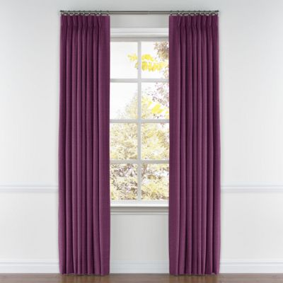 Magenta Purple Linen Pleated Curtains