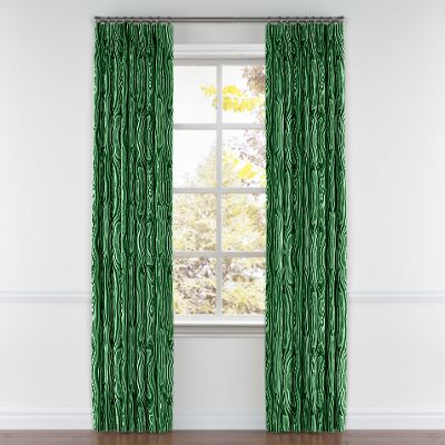 Marbled Green Malachite Pleated Curtains