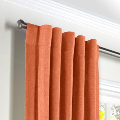 Coral Lightweight Linen Back Tab Curtains