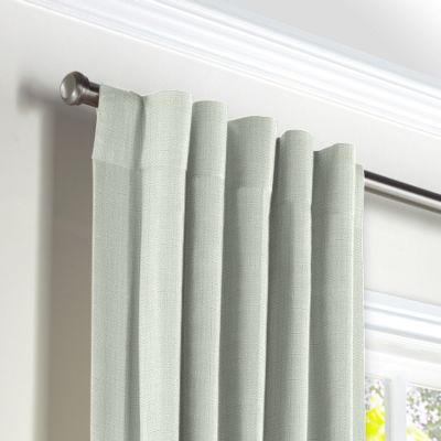 Pale Seafoam Slubby Linen Back Tab Curtains