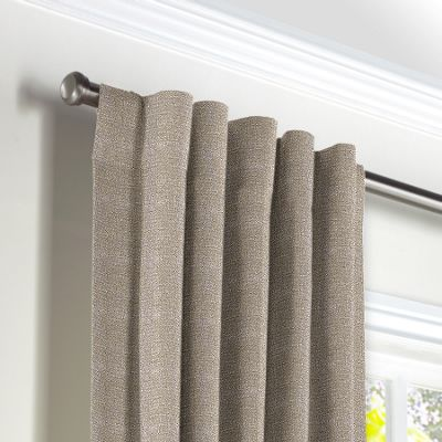 Silvery Gray Metallic Linen Back Tab Curtains