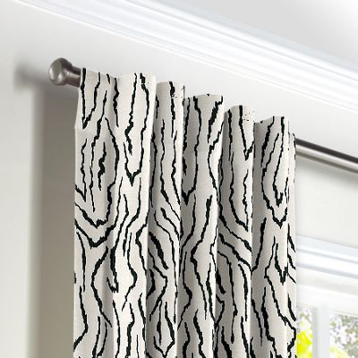 Black & White Animal Print Back Tab Curtains