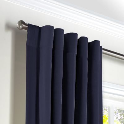 Navy Blue Sunbrella® Canvas Back Tab Curtains