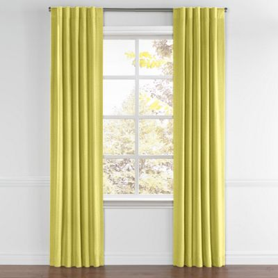 Lime Green Linen Back Tab Curtain