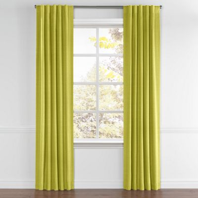 Chartreuse Green Linen Back Tab Curtains