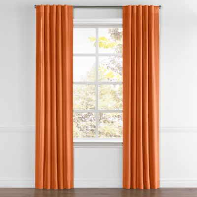 Burnt Orange Linen Back Tab Curtain