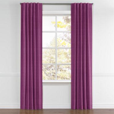 Magenta Purple Linen Back Tab Curtain