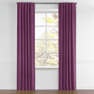 Magenta Purple Linen Back Tab Curtains