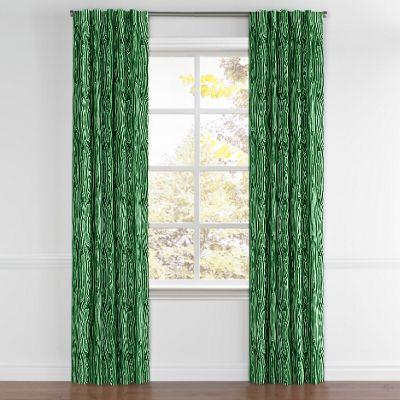 Marbled Green Malachite Back Tab Curtains