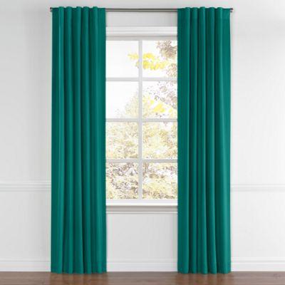 Teal Sunbrella® Canvas Back Tab Curtains