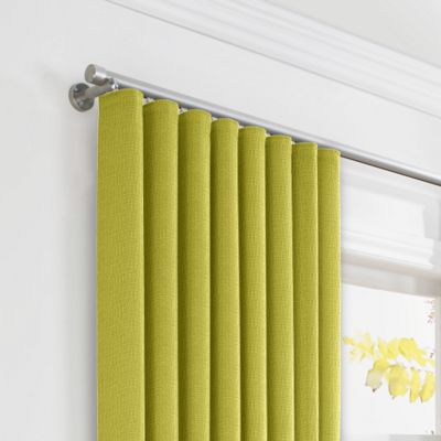 Chartreuse Green Linen Ripplefold Curtains