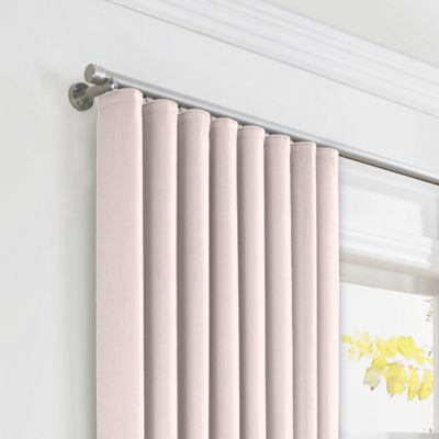 Pale Pink Linen Ripplefold Curtains