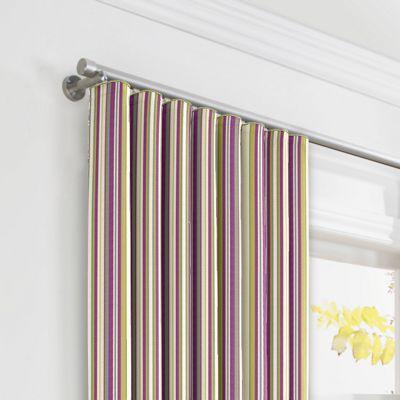 Green & Purple Stripe Ripplefold Curtains