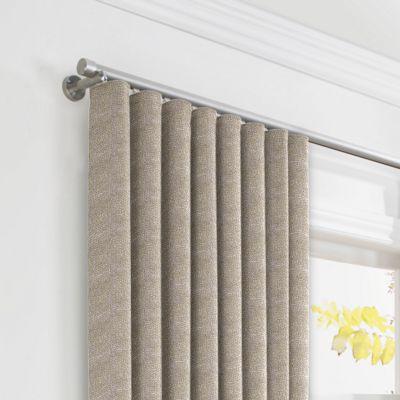 Silvery Gray Metallic Linen Ripplefold Curtains