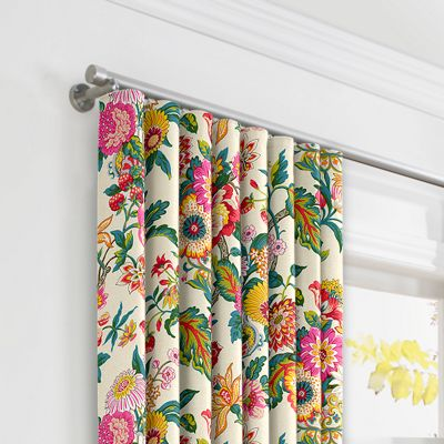 Candy-Colored Chinoiserie Ripplefold Curtains