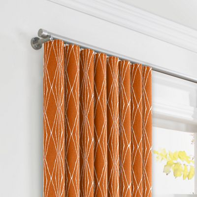 Burnt Orange Diamond Ripplefold Curtains