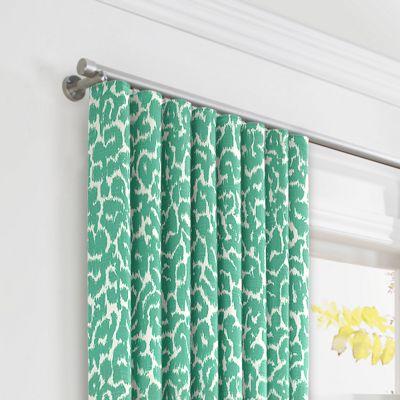 Bright Green Leopard Print Ripplefold Curtains