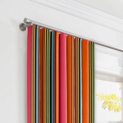 Pink Multicolor Stripe  Ripplefold Curtains
