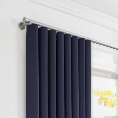 Navy Blue Sunbrella® Canvas Ripplefold Curtains