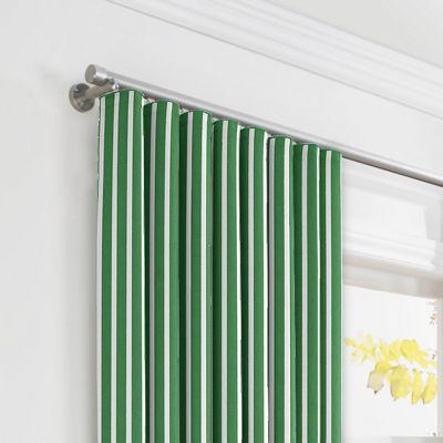 Emerald Green Thin Stripe Ripplefold Curtains