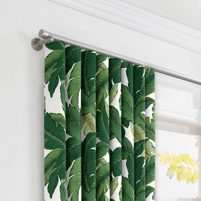 Green Banana Leaf Ripplefold Curtains