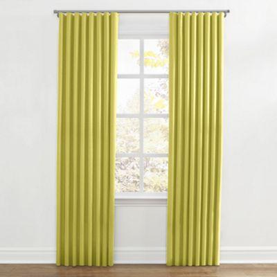 Lime Green Linen Ripplefold Curtain
