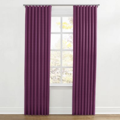 Magenta Purple Linen Ripplefold Curtains