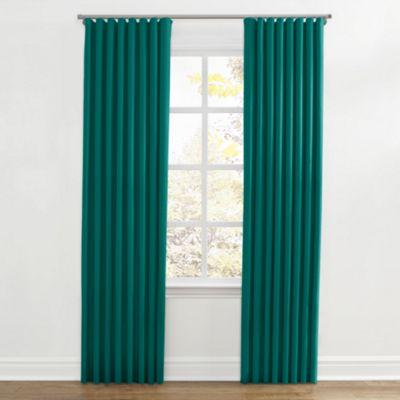 Teal Sunbrella® Canvas Ripplefold Curtains