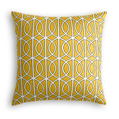 Modern Yellow Trellis Pillow