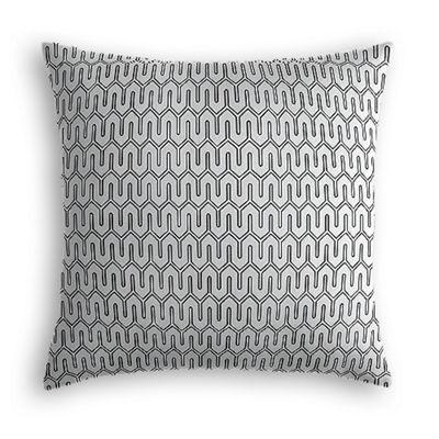 Pale Gray Geometric Pillow